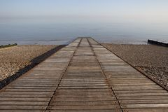 Slipway to ocean at Herne Bay in Kent Stock Image