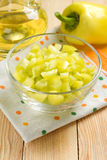 Slised green sweet peppers Royalty Free Stock Image