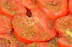 Slised pomidor, zamyka up zdjęcie royalty free
