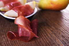 Slised prosciutto Royalty Free Stock Photos