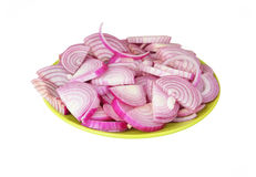 Slised red onion Royalty Free Stock Image