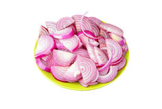 Slised red onion Royalty Free Stock Photo