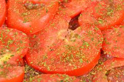 Slised tomato, close up Royalty Free Stock Photo