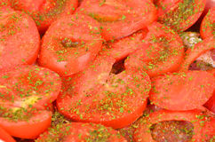 Slised tomato, close up Royalty Free Stock Image
