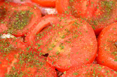 Slised tomato, close up Royalty Free Stock Images