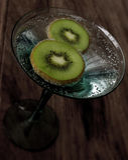 Slises de kiwi Photographie stock