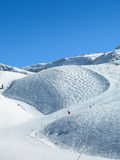 Slislopes of Ischgl. Ski resort in Silvretta, Austria Royalty Free Stock Photos