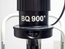 Slit lamp biomicroscope for ophthalmologist Stock Images
