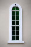 Slit window with painted glass Stock Photos