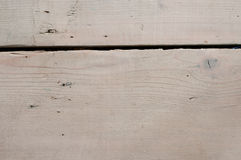 Slit between wooden planks, detail Royalty Free Stock Photos