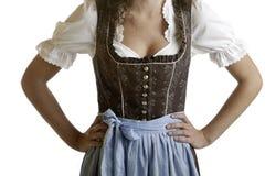 slitage för flicka för bavariantorkdukedirndl mest oktoberfest Arkivbild