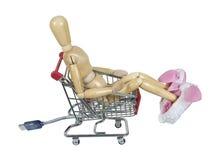 slitage för kaninonline-shoppinghäftklammermatare Royaltyfri Fotografi