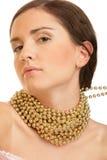 slitage kvinna för guldhalsband Royaltyfria Foton