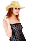 slitage kvinna för hatt Royaltyfri Fotografi