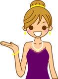 slitage kvinna för klänning Royaltyfri Foto