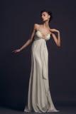 slitage kvinna för klänningafton Royaltyfria Bilder