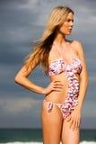 slitage kvinnabarn för attraktiv bikini royaltyfria foton