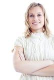 slitage kvinnabarn för lycklig pullover Royaltyfri Fotografi