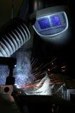 slitage welder för maskeringsskydd arkivbild