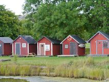 Slite on Gotland in Sweden Stock Images