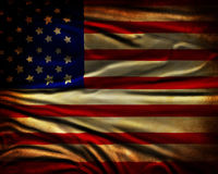 Sliten amerikanska flaggan Royaltyfri Foto