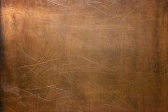 Sliten arkkoppar, metalltexturnärbild, bakgrund fotografering för bildbyråer