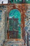 Sliten dörr för väder Royaltyfri Foto