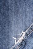 Sliten jeanstextur för bakgrund Royaltyfri Bild
