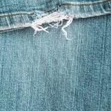 Sliten jeanstextur för bakgrund Royaltyfri Fotografi