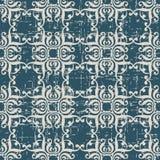 Sliten ut antik sömlös kurva C för spiral för bakgrundskurvfyrkant vektor illustrationer