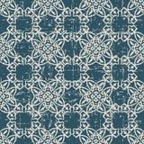 Sliten ut antik sömlös kurva F för kors för bakgrundspolygonkontroll royaltyfri illustrationer
