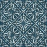 Sliten ut antik sömlös virvel för spiral för kurva för bakgrundskontroll C royaltyfri illustrationer