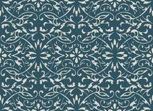 Slitet ut antikt sömlöst flöde för blad för vinranka för bakgrundskurvspiral stock illustrationer