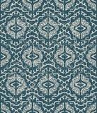 Slitet ut antikt sömlöst G för kalejdoskop för bakgrundsspiralkors stock illustrationer