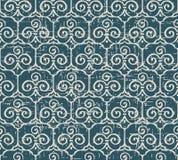 Slitet ut antikt sömlöst kors för spiral för bakgrundstrefoilkurva vektor illustrationer