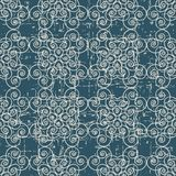 Slitet ut antikt sömlöst kors F för kurva för bakgrundsvirvelspiral stock illustrationer
