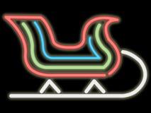 Slitta al neon Fotografia Stock Libera da Diritti