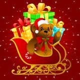 Slitta del Babbo Natale Fotografie Stock Libere da Diritti