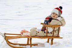 Slitta del bambino immagini stock libere da diritti