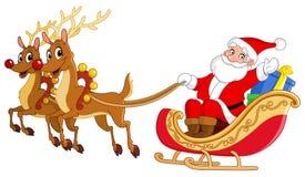 Slitta della Santa illustrazione di stock