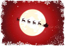 Slitta di Grunge Santa Fotografie Stock