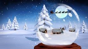Slitta di Santa illustrazione di stock