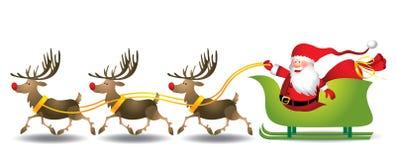 Slitta di Santa - illustrazione Fotografie Stock Libere da Diritti