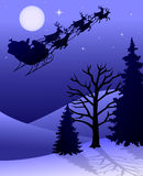 Slitta/ENV della renna della Santa Fotografia Stock Libera da Diritti