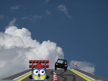 Slittamento dell'automobile fotografie stock libere da diritti