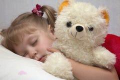 Slittare della bambina Fotografie Stock Libere da Diritti