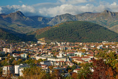 Sliven city, Bulgaria. Overview of Sliven city, in Bulgaria, with the rocky montains Royalty Free Stock Images