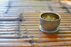 Sliver cup Thai style Stock Photography