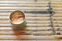 Sliver cup Thai style Royalty Free Stock Photo
