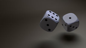 Sliver dice Stock Images